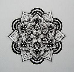stippling trains | drawing stippling blackwork Hand drawn mandala pen and ink Dotwork ...