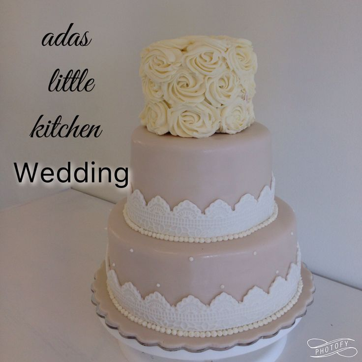 Wedding romantic cake
