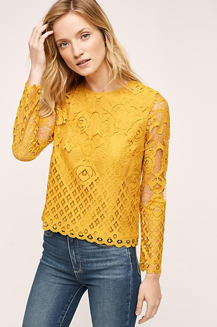 Patrie Mixed Lace Top