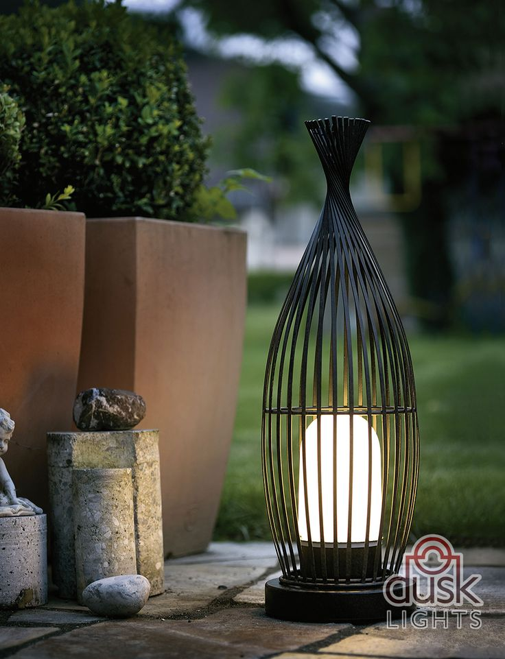 Ideal Eglo Lorena Exterior Antique Brown Floor Lamp