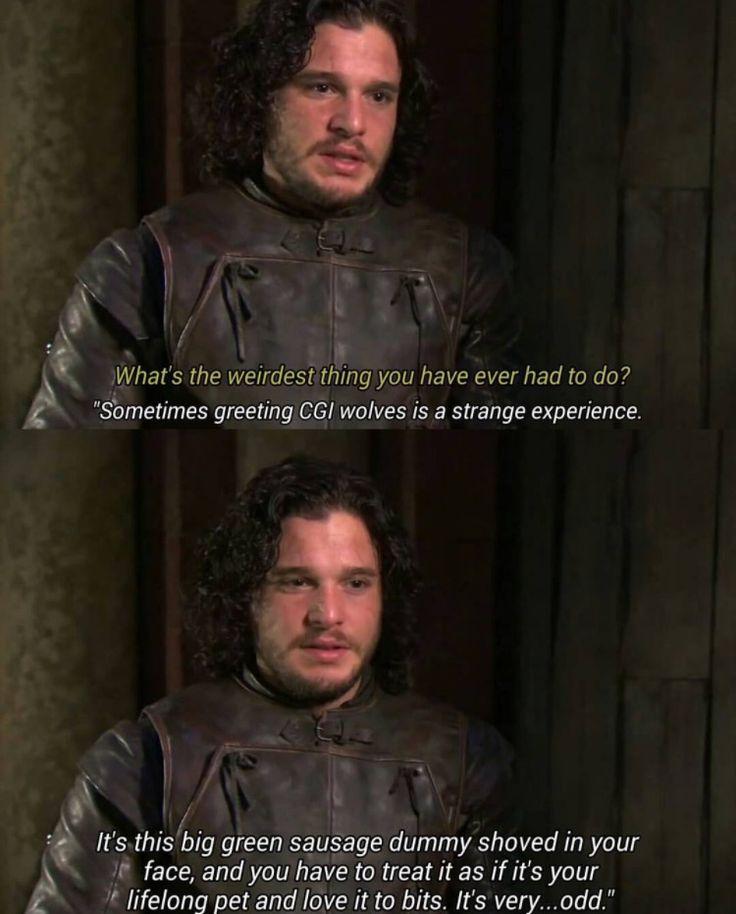 Game of Thrones funny cast Kit Harrington Jon Snow