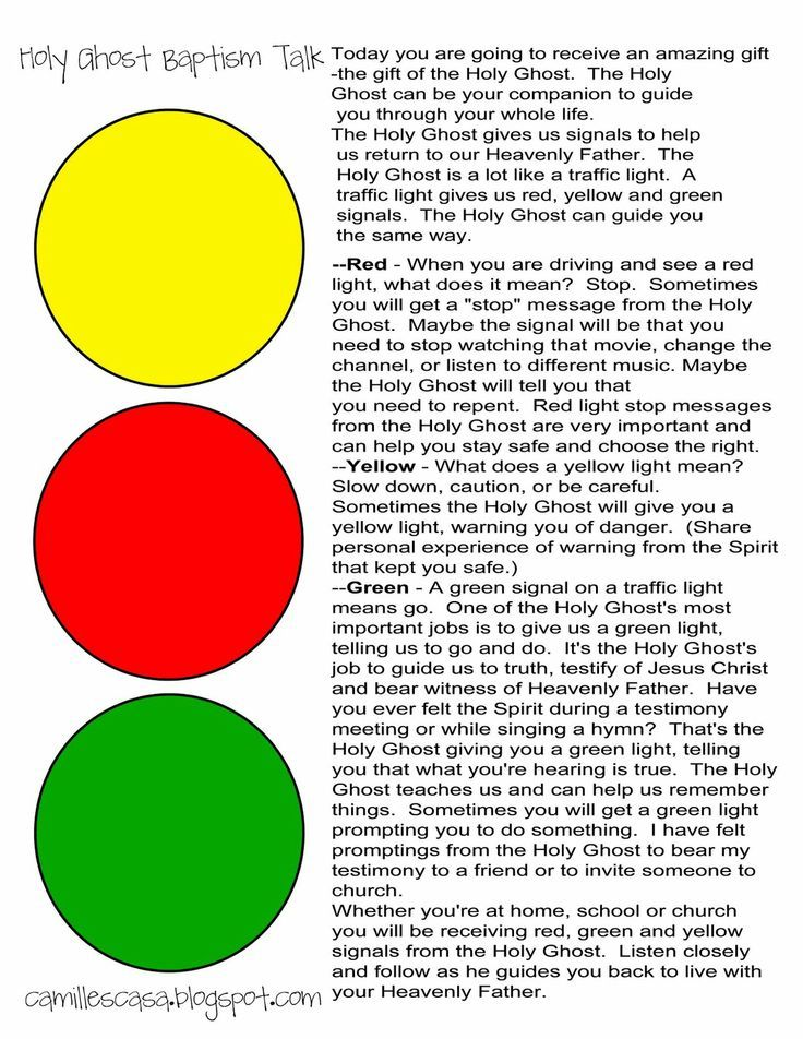 Holy Ghost Traffic Light talk: