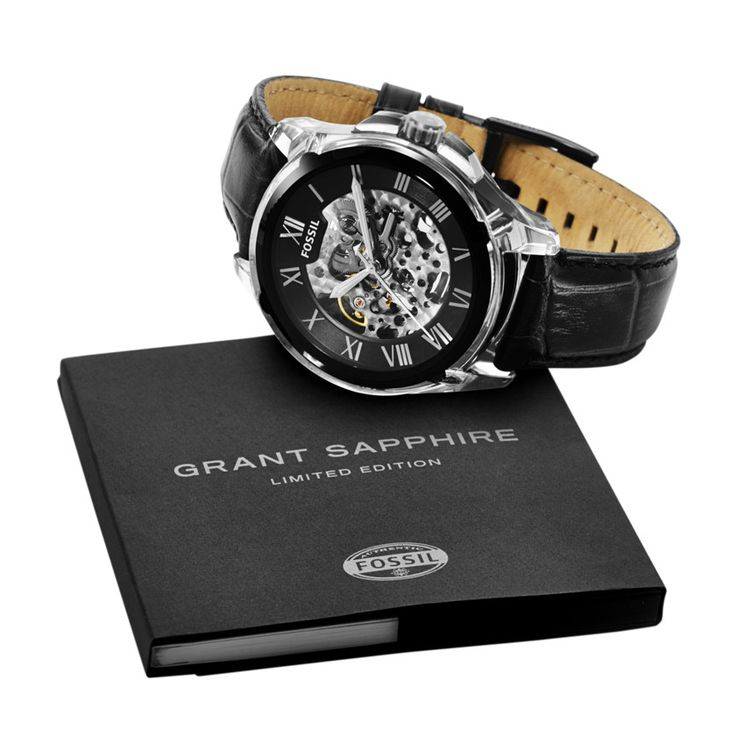 fossil limited edition grant automatic leather