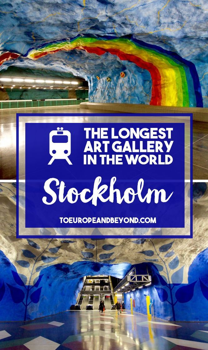 Only the Swedes could make an otherwise rather dull public transit system so riveting; indeed the Stockholm metro has been deemed the world's longest art gallery numerous times, at 100 kilometres long and stretching over 90 stations.  #travel #Stockholm: