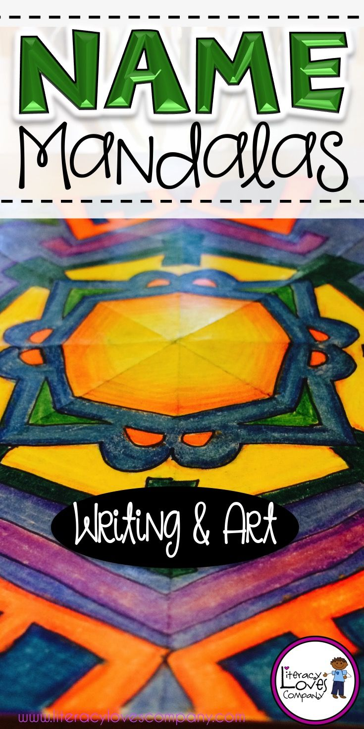 Looking for a new, fun way to get to know your students during Back-to-School? Name Mandalas include an engaging get-to-know-you activity, How I Got my Name writing, and name mandala art project. Perfect for the first week BTS. Easy to follow directions with photos. ~Literacy Loves Company