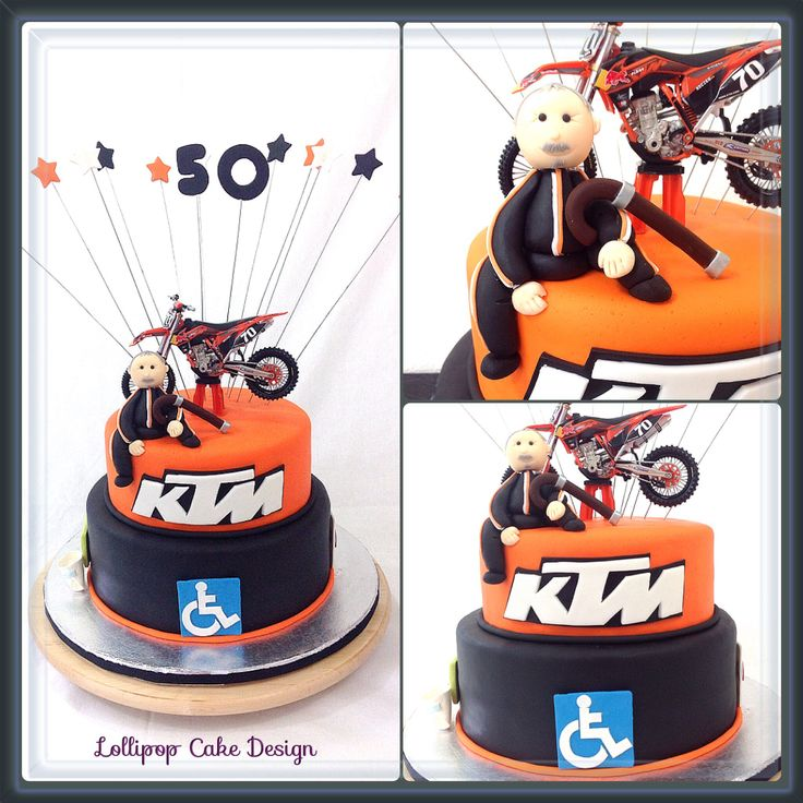 Ktm cake lollipop cake design pinterest cakes for Decoration ktm