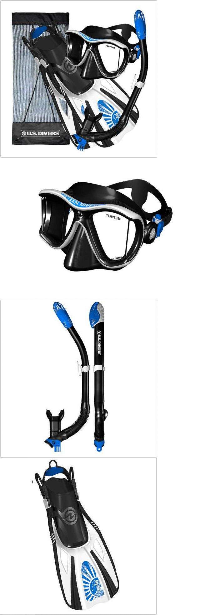 Snorkels and Sets 71162: Us Divers Panoramic View Adult Snorkeling Gear Set Mask+Fins+Bag ~~Select Size~~ -> BUY IT NOW ONLY: $59.91 on eBay!