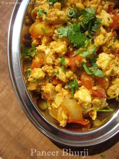 Recepty z Indie II.: Paneer Bhurji