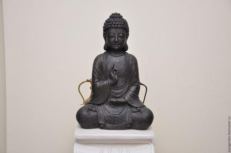 Купить Скульптура бетонная Будда большая для дома и сада - состаренный, будда, статуя, фигура
