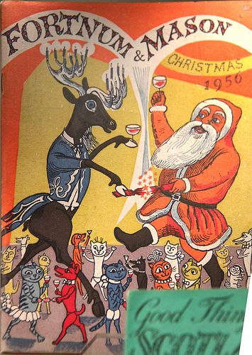 """""""Christmas Catalogue"""" (detail) by Edward Bawden for Fortnum & Mason, 1956"""
