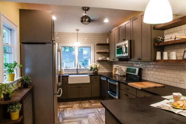 HGTV design experts help make the most of small kitchens with creative design ideas, layouts and storage solutions.