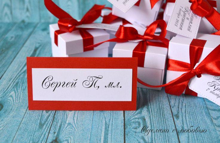 Карточка рассадки и бонбоньерки для свадьбы