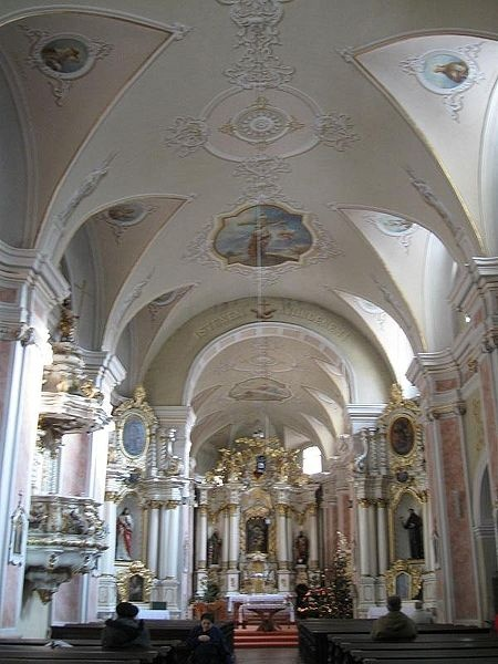 Interior of the Franciscans Church in Cluj-Napoca, Romania
