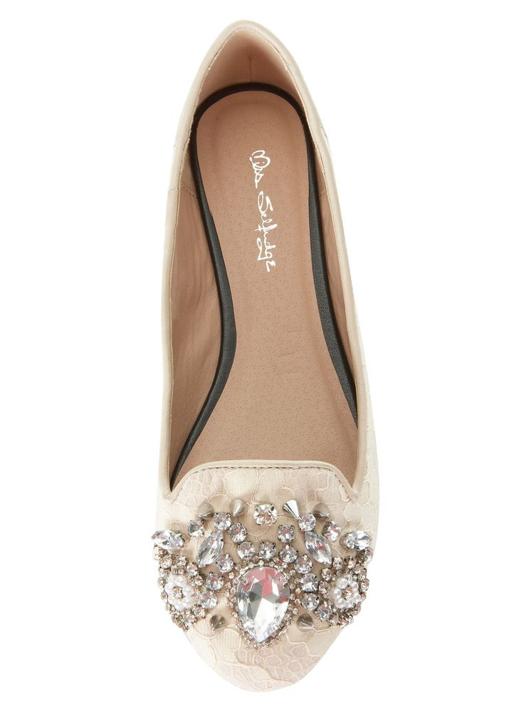 Lover Cream Lace Embellished - Flat Shoes - Flat Shoes ...