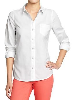 Women's Oxford Shirts | Old Navy. Always an essential and looks perfect with colored pants.