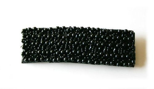 Black Beads Rectangular Hairpin by My ribbon tree. $9.99. Black Beads/Fiber/Metal. Hand made. Black Beads Rectangular Hairpin. Black Beads Rectangular Hairpinpin Beads/Spangles/Fiber/Metal Handmade
