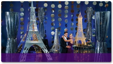 Evening in Paris theme: Paris Parts, Prom Decor, Paris Decor, Decor Kits, Paris Prom Theme, Paris Theme, Parties Ideas, Silver Lights, Paris Events Decor Theme