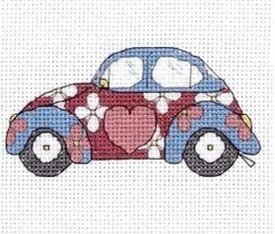 VW Beetle Cross Stitch Embroidery