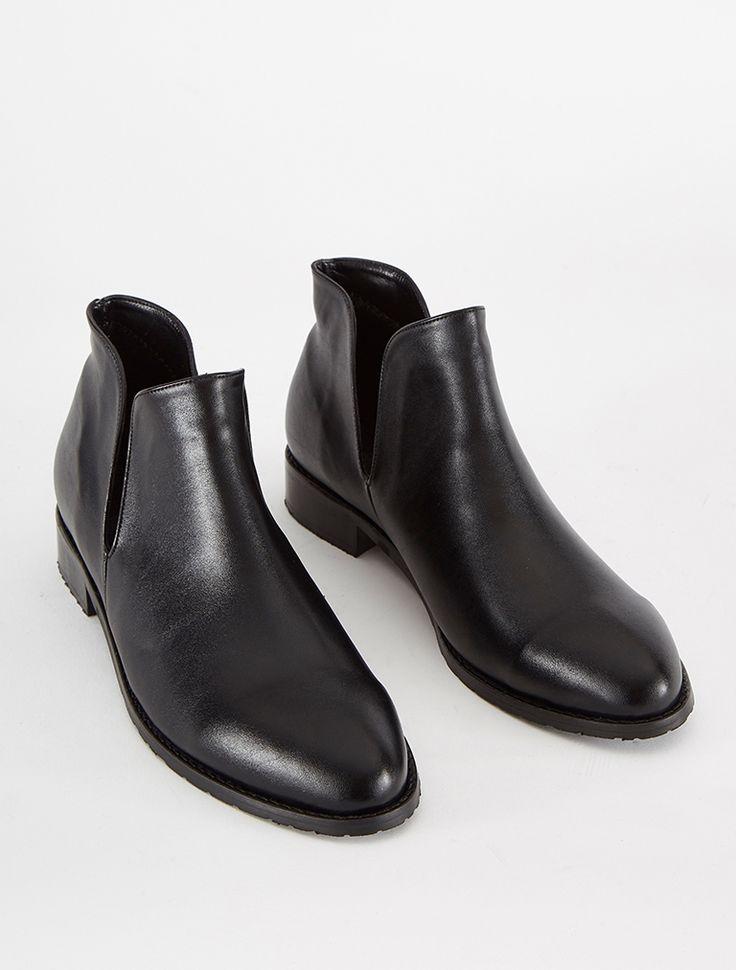 DÜZ BOTLAR Marquez Siyah Topuklu Bot