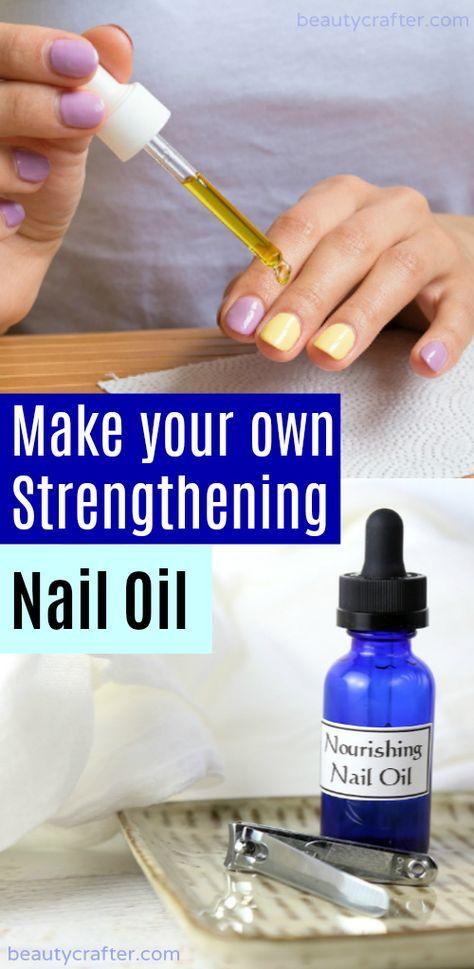 Nail Strengther DIY, Nagelölrezept für starke Nägel. Spröde, schwache Nägel heilen … – Body and face care