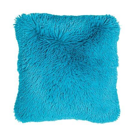 Habito Cushion Shaggy Teal 43cm x 43cm - Cushions & Throws - Living Room - Homewares - The Warehouse