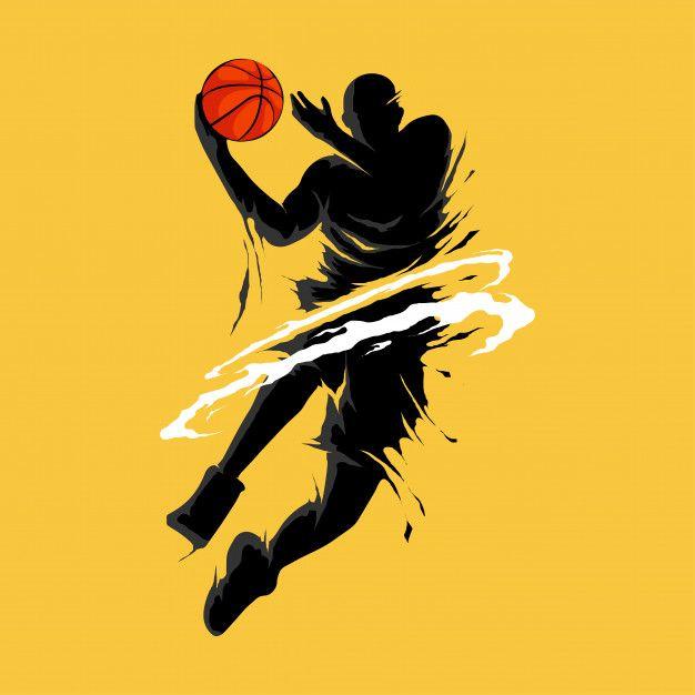 Basketball Slam Dunk Flame Silhouette Player In 2020 Slam Dunk Basketball Dribble Basketball Iphone Wallpaper