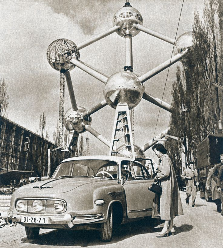 Tatra 603 / Atomium, 1958 Brussels World's Fair.