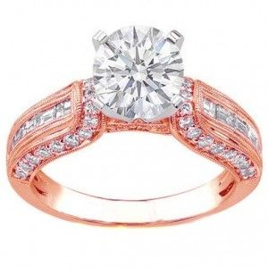 Unique Rose Gold Engagement Rings The main reason why rose gold engagement rings bee so popular