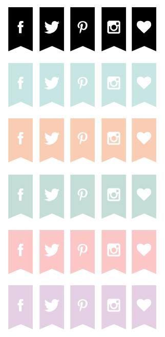 Creative Mindly: Botones redes sociales para descargar: Freebies de blogueras motivadas