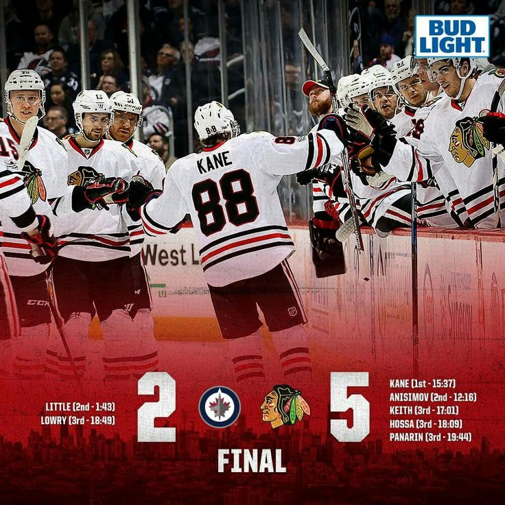 Blackhawks win their fourth straight game on the road!