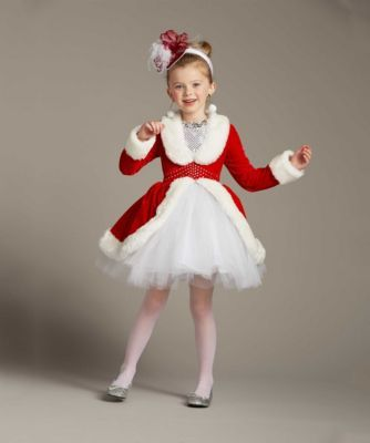 Rockettes® Santa Costume For Girls - exclusively ours - Santa Claus is coming to town! Dance your way into everyone's heart as this spectacular Rockettes® performer.