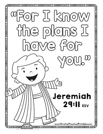 Jeremiah 29 11 Coloring Pages Coloring Pages