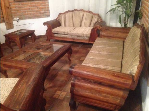 Sala rustica ideas para el hogar pinterest for Sillones rusticos para living