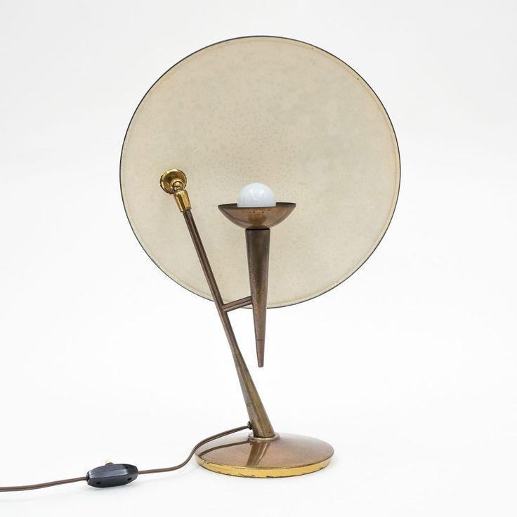 Stilnovo Brass Table Lamp, circa 1950