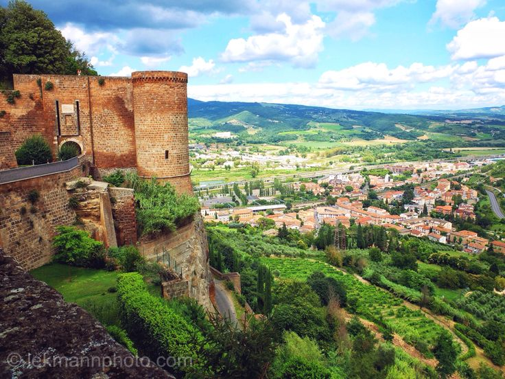 Orvieto is a city and comune in Province of Terni, southwestern Umbria, Italy situated on the flat summit of a large butte of volcanic tuff. The site of the city is among the most dramatic in Europe, rising above the almost-vertical faces of tuff cliffs that are completed by defensive walls built of the same stone called Tufa.