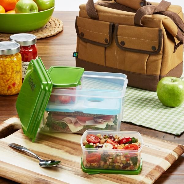 Cypress Insulated Lunch Bag with Lunch on the Go Container Set