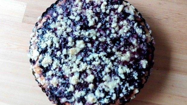Kynutý hrníčkový borůvkový koláč