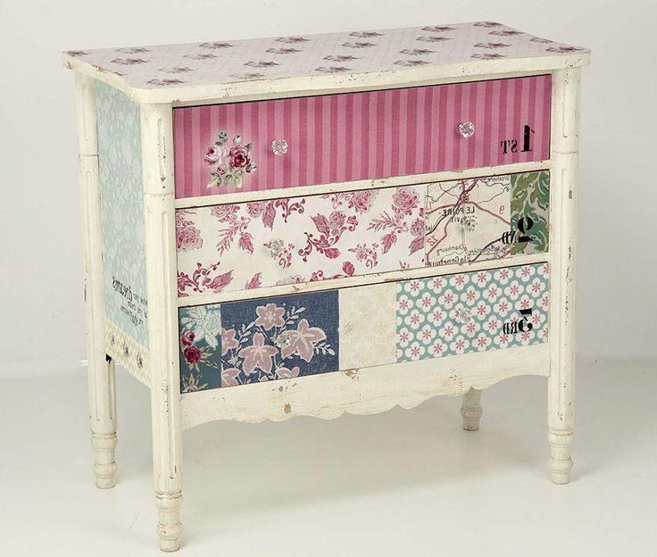 17 mejores ideas sobre muebles de decoupage en pinterest - Muebles decorados a mano ...