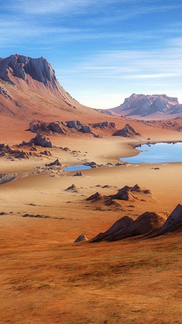 Sahara ..  Gegensätze - Wasser und Wüste ...