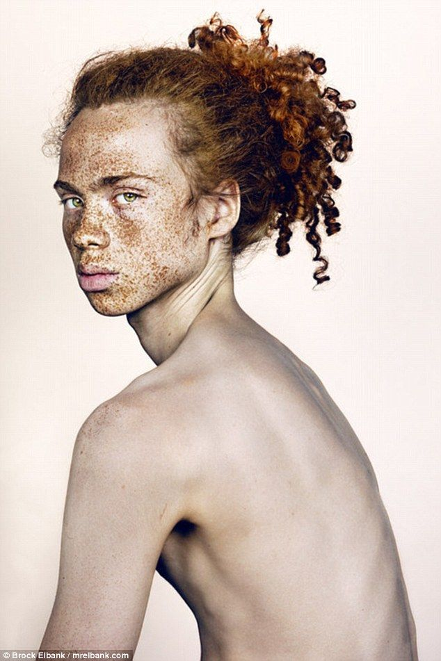 Discussing his efforts, he said: 'What I find interesting about individual characters that I have been fortunate enough to photograph is that many have struggled with their freckles since their infancy and either hated them, or grown to live with them or even like them in adulthood'