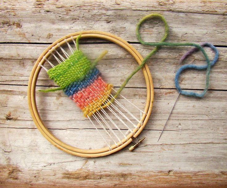 embroidery hoop weaving loom