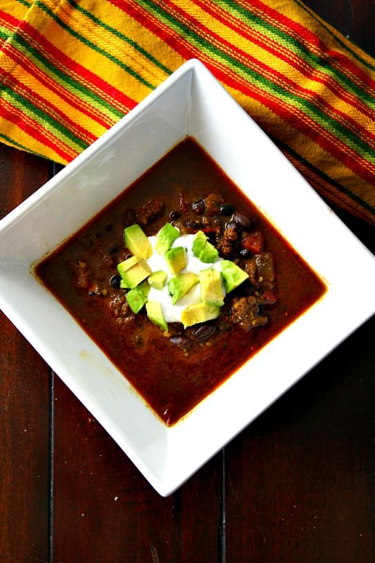 Award Winning Bison Chili Recipe with Chipotle and Lime Crema. Chili Soup Recipes are just the best..  via @lannisam