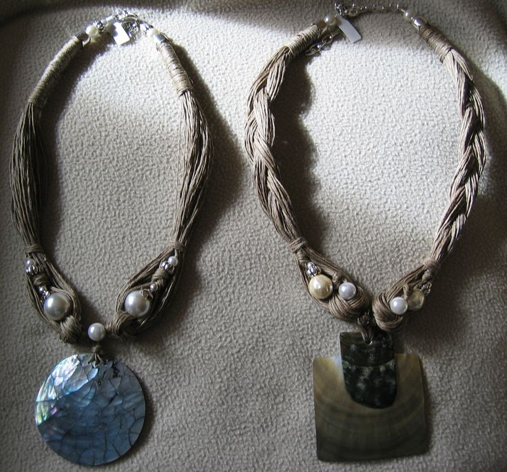 madreperla, corda di lino - Marina Caproni