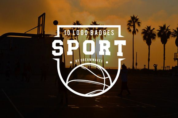 10 logo badges sport by dreamwaves on @creativemarket