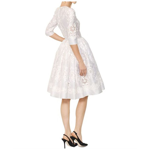 New Arrival Elegant White Organza Embroidered Dress Princess Dress 151224BU04 US $65.50 /piece   Click link to buy other product http://goo.gl/p8JMyk