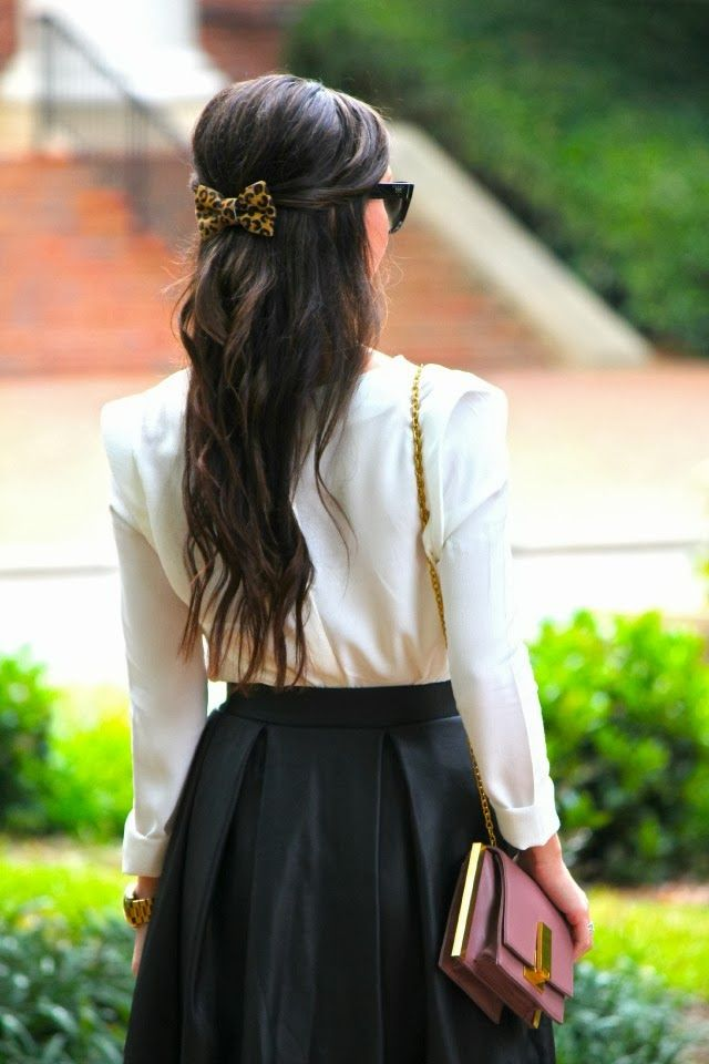 .Loving the bow in the hair very chic.