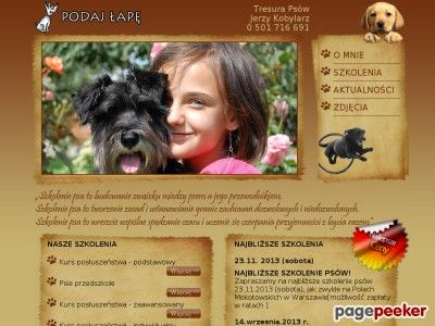 Szkolenie psów Warszawa - Katalog Stron - Najmocniejszy Polski Seo Katalog - Netbe http://www.netbe.pl/flora,i,fauna/szkolenie,psow,warszawa,s,6911/