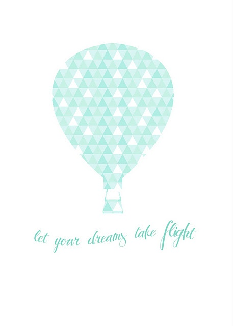 Hot Air Balloon Free Printable...reminds me of Spaceship Earth. There are other color options, too.