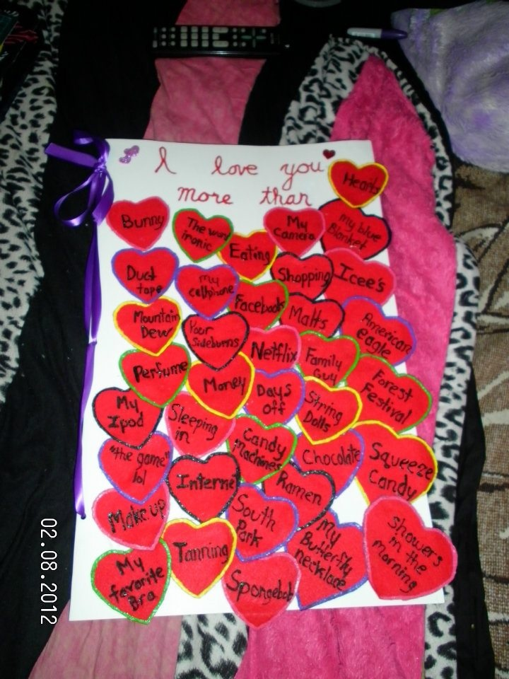 Giant Card I Made My Boyfriend For Valentines Day Best Idea Ever