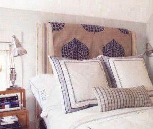C mo hacer un cabecero de tela para la cama de dormitorio - Tapizar un cabecero de cama ...